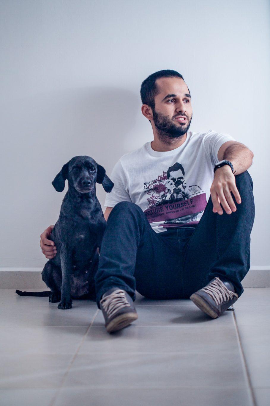 Fotografo Paulo Lima e sua mascote Bundê